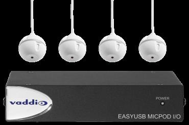 EasyUSB MicPOD I/O and Four Ceiling MicPODS