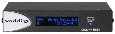 OneLINK HDMI Extension for Vaddio HDBaseT Cameras